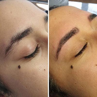 Microblading effet poil à poil