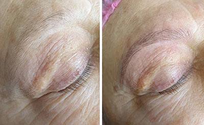 Microblading sur sourcils clairsemés 49